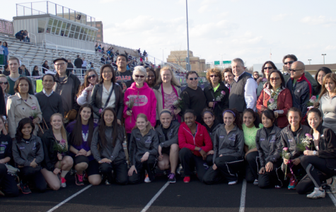 Girls track celebrates a tearful Senior Night, successful season