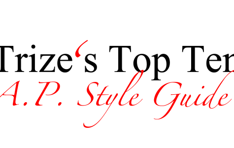 Trize's top 10: AP style guide