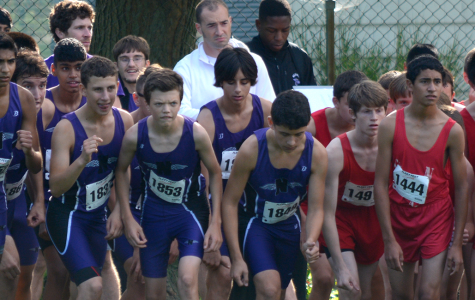 Boys cross country racing in Peoria