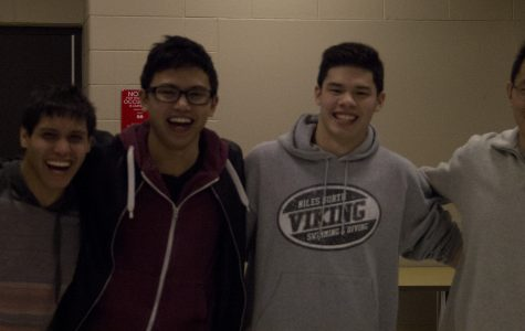 Boys swimmers cruise past Maine East on senior night