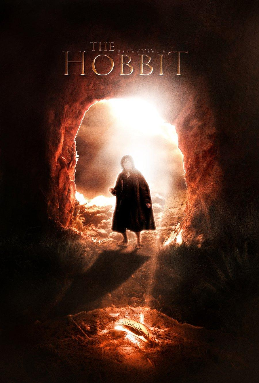 The promotional poster for the upcoming film adaptation of The Hobbit.