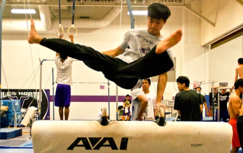 Boys gymnastics finishes 2nd in conference, sends three to State