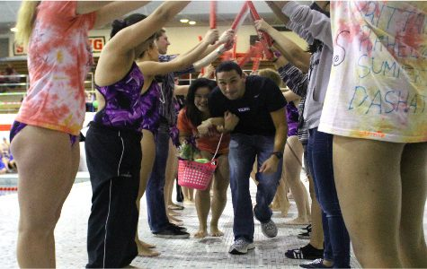 Girls swimming Senior Night is an enchanted finale