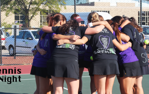 Varsity tennis comes out with a victory for their Senior Night