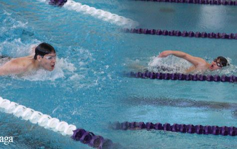 Boys swimming swims to state