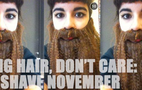 No Shave November: Long hair, don't care