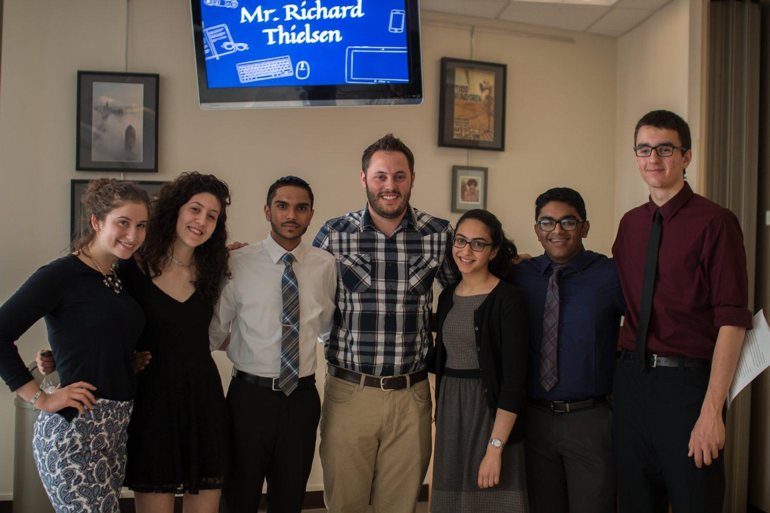 Richard Thielsen named Teacher of the Year, Filip Cejovic Support Staff person of the year