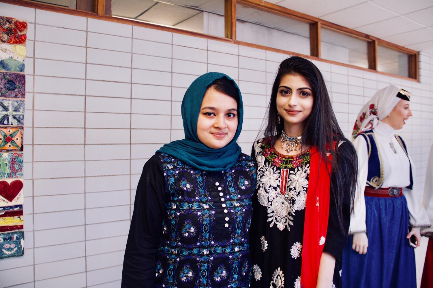Niles North MSA members Amna Masood & Nazish Desai