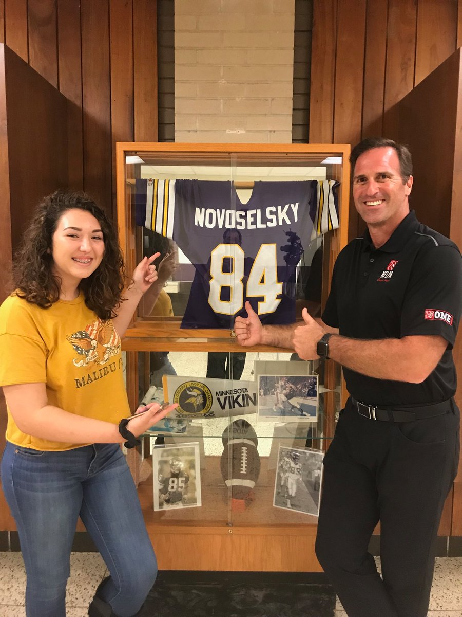 Novoselsky retells Viking experience on and off field