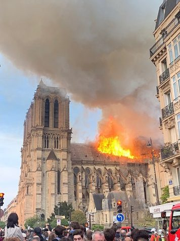 A fire on April 15, 2019, nearly destroyed the Notre Dame cathedral.