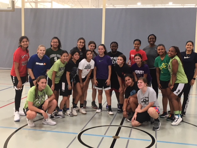 Girls basketball program after a morning shooting before school (photo courtesy Daniel Paxson)