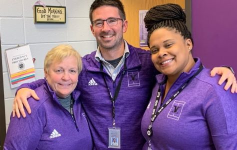 Ms. Russell pictured on the right  photo courtesy of Niles North twitter