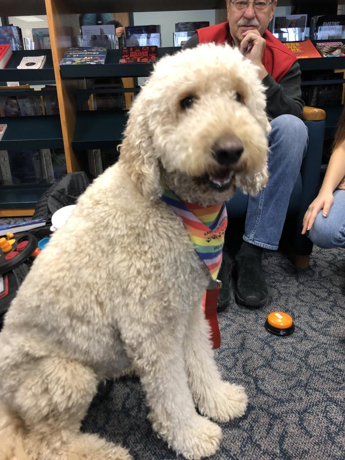 Rainbow Animal Assisted Therapy visited students in the Library on Dec. 16.