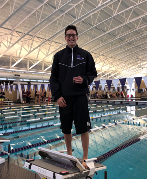 Junior Vincent Pi has qualified for State in boys swimming three years in a row.