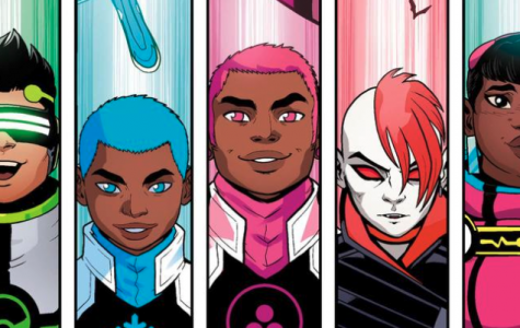 Photo credit to Marvel Comics. From left to right(Screentime, Snowflake, Safespace, B-Negative, and Trailblazer)