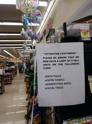 Stores may limit items like in this Skokie Jewel Osco.