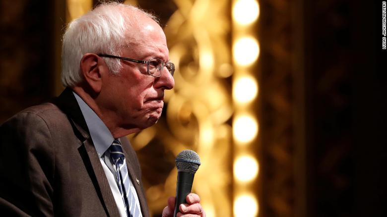 U.S. Democratic presidential candidate Bernie Sanders speaks during a rally in St Louis, Missouri, U.S., March 9, 2020. REUTERS/Lucas Jackson