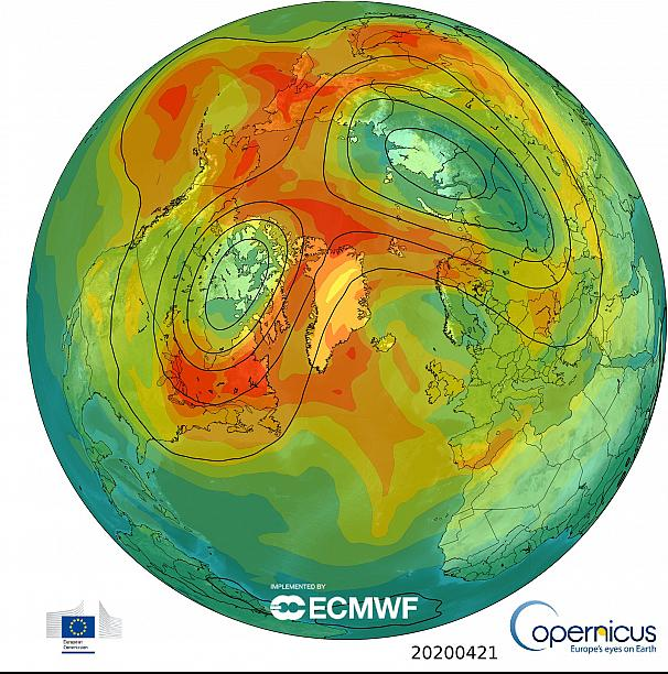 Arctic Ozone Layer Hole Closes Within A Month of the COVID-19 Lockdown: Coincidence?