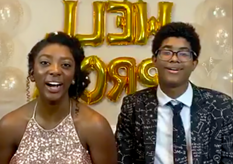 Hannah Lucas, 18, a senior at South Forsyth High School in Forsyth County Georgia, and her brother Charlie Lucas organized the virtual prom.